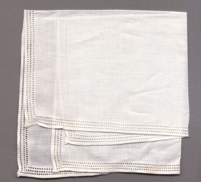 Old linen handkerchief