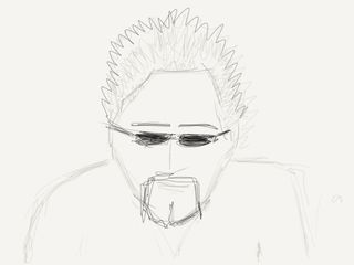 Pencil sketch of Guy Fieri by Scott Townsend